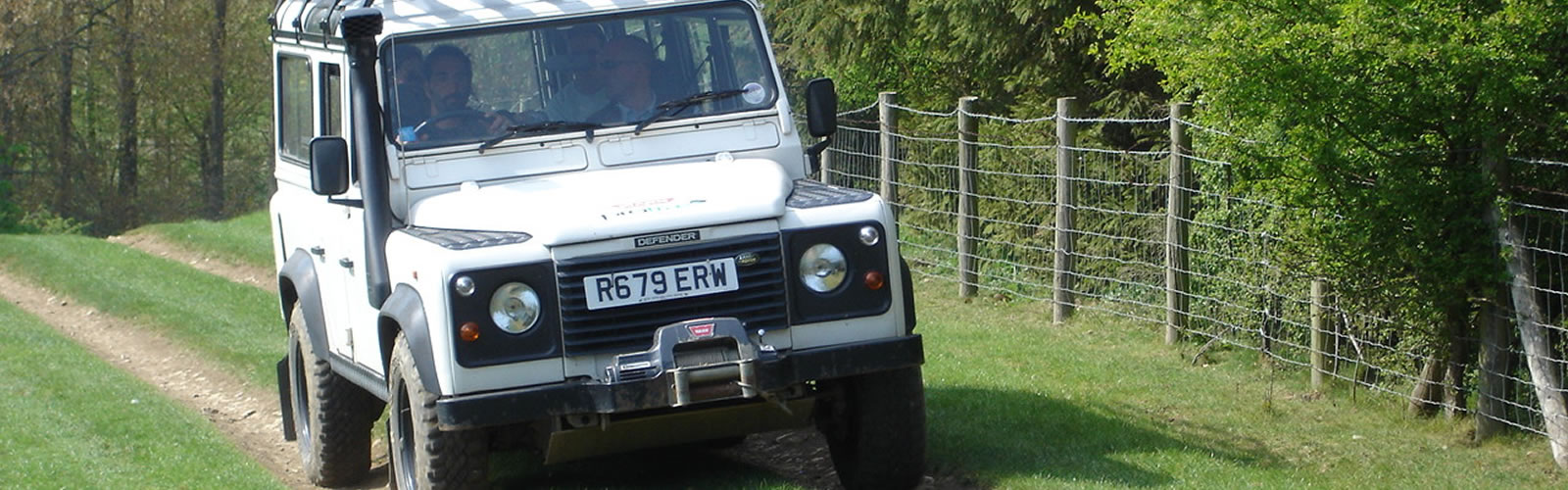 Land Rover Defender on Track